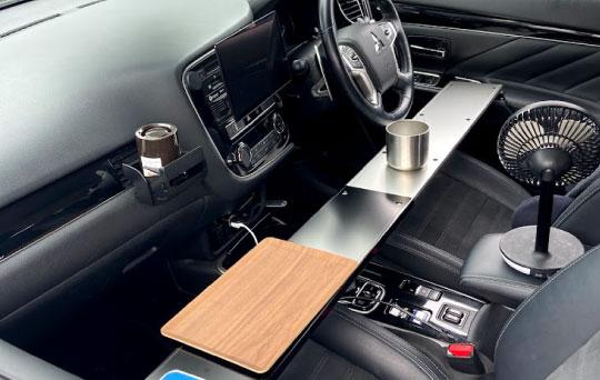 ②車内でのテーブル